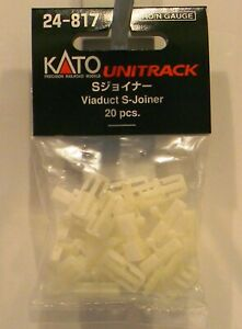 NEW HO/N Kato #24-817 Unitrack Viaduct S Joiners 20 Pk