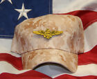 US NAVAL AVIATIOR PILOT DESERT CAMO HAT PATCH CAP US NAVY OFFICER WOWNH PIN UP