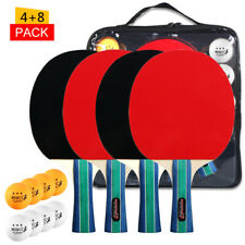 New listing Table Tennis Ball and Bat Set  Quality  Pong Paddles Table Tennis W0I0