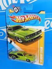 Hot Wheels 2012 New Models Series #48 '71 HEMI Cuda Lime Green w/ 5SPs