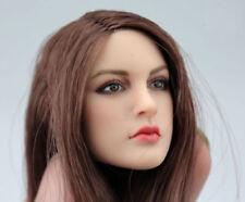 "1/6 Scale Female long hair Head Sculpt For 12"" Tbleague Phicen Hot Toys Figure"