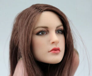 "1/6 Scale Female long hair Head Sculpt For 12"" TBLeague PHICEN Hot Toys Figure"