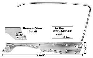 1965-66 Ford Mustang Fastback Door Window Frame Kit - RH