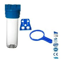 """Clear standard water filter housing 10"""" with 3/4"""" ports"""