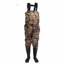 Men Hunting Farming Pants Camouflage Waterproof Anti-wear Waders Boots Fishing