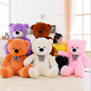 2021 UK Stock Large Teddy Bear Giant Kids Big Soft Plush Toys 40/60/80/100/120cm