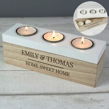 Personalised New Home Housewarming Couple Wedding Candle Tea Light Holder Gift