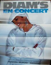 """DIAM'S - Affiche poster 70x100 """"En concert"""" - RAP Hip Hop - Rare !"""