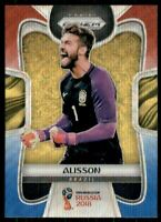 2018 Panini Prizm World Cup Prizms Red and Blue Wave #37 Alisson