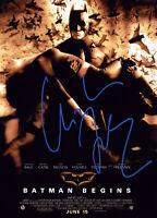 Christian Bale Signed Autograph Batman Begins Bruce Wayne 5x7 Card w/COA
