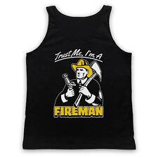 TRUST ME I'M A FIREMAN FIREFIGHTER FIRE MAN FIGHTER ADULTS VEST TANK TOP