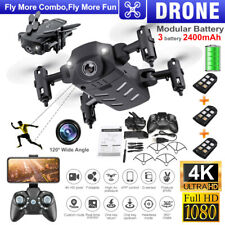 RC Drones WIFI FPV 1080P/4K HD Camera 3 Batteries Foldable Quadcopter Aircraft