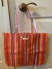 Clinique Striped Plastic Beach Bag NEW