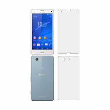 1 FRONT & 1 BACK LCD Screen Protector Film Foil Saver For Sony Xperia Z3 Compact
