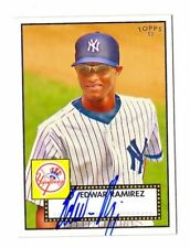 EDWAR RAMIREZ MLB 2007 TOPPS 52 SIGNATURES (NEW YORK YANKEES, OAKLAND ATHLETICS)