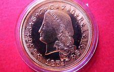 1879  U.S.  400 CENTS ($4)  GOLD-CLAD COIN, BU Uncirculated Commemorative Copy