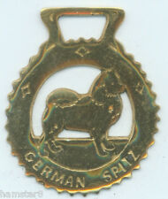German Spitz Horse brass (N645)
