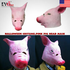 Creepy Pig Latex  Head  Mask Cosplay Animal Halloween Party Costume Theater Prop