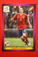 Panini EURO 2012 N. 309 ESPANA INIESTA  NEW With BLACK BACK TOPMINT!!