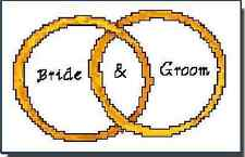 PawPrints Personalized Cross-Stitch Wedding Ring Pattern + Free Monthly Patterns