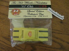 2013 Hot Wheels 27th Collectors Convention Newsletter car 67 Olds  ONLY 310 made