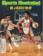 1976 5/17 Sports IIlustrated,Basketball,magazine,Julius Erving, New York Nets~VG