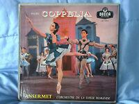 Delibes - Coppelia - Ansermet - 2 LP Decca Orange LXT 5342-3 Rare Vinyle
