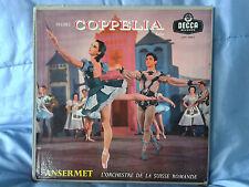Delibes - Coppelia - Ansermet - 2 LP Decca Orange LXT 5342-3 Rare Vinyl