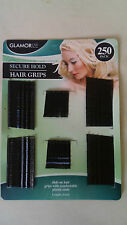 Confezione da 250 Fermagli Per Capelli Nero Grip BOBBY KIRBY PINS morsetti Salon Ondulato diapositive