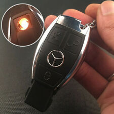 USB Electric Rechargeable Flameless Windproof Cigarette Lighter Car Key Style