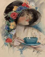 Fisher Harrison Afternoon Tea Print 11 x 14   #3741