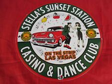 PLAQUE EMAILLEE STELLA'S SUNSET STATION CASINO LAS VEGAS Rock'nRoll dance club