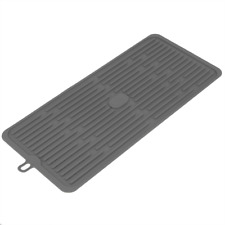 Alfombrilla escurreplatos de silicona 446x203 mm gris