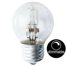 Lusion Halogen Fancy Round Light Bulb Screw E27 240v 28w(40w) Clear 30206 16