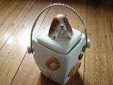 Vintage Mid Century Dog Biscut Barrell. Retro Art Deco Japan.
