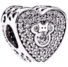 MINNIE VALENTINE HEART .925 Sterling Silver European Charm Bead U1