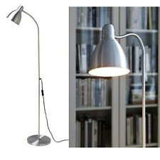 Ikea LERSTA Floor Reading Lamp,Aluminium,131 cm & Long Cord,Easily Direct Light