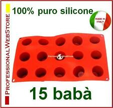 MOLDES SILICONA MOULES GATEAUX DESSERT SILICONE MOLDS 15 BABA' MOULDS for PASTRY