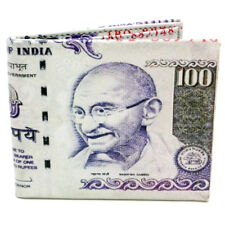 100 India Rupees Design Currency Bi-Fold Wallet