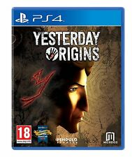 Yesterday Origins [PlayStation 4 PS4, Region Free, Explore Adventure Puzzle] NEW