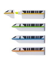 Disney Parks Monorails Monorail Highlighter Markers Set Of 4 - NEW