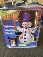 2002 Gemmy Airblown Inflatable 8ft Snowman OLD CLASSIC Outdoor Yard Decoration