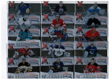 2010-11 Donruss Les Gardiens Goalies Hockey Complete Acetate Insert Set 1-15