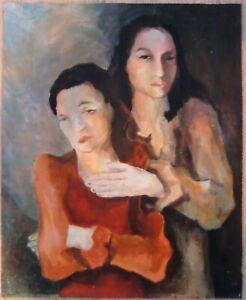 Portrait Frauen ca. 1950-1970 Öl auf Lw.