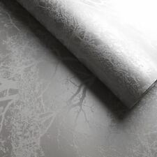 WHISPERING TREES GLITTER WALLPAPER GREY / SILVER - HOLDEN 65401 SPARKLE NEW