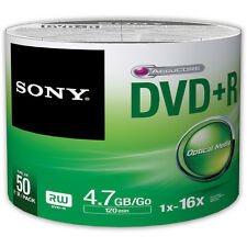 600 SONY Blank DVD+R Plus R Silver Logo Branded 16X 4.7GB 12x50 pack Media Disc