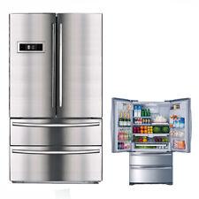 SMAD 4-Door French Door Counter-Depth Refrigerator Auto IceMaker Stainless Steel