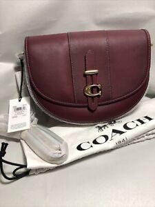 NWT Coach 1941 Scarlet Glovetanned Leather Shoulder Crossbody Saddle 24 Bag