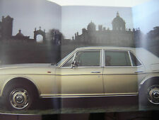 brochure ROLLS ROYCE SILVER SPIRIT / 1980 / COULEURS ENGLISH