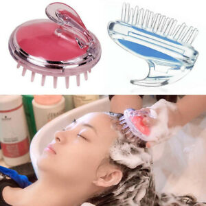 Comb Shampoo Massage Brush Silicone Props Body Slimming Hair Washing Shower Spa